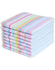 Kitchen Dish Cloths 12 Pack Bulk DishCloths Cotton Scrubbing Wash Rags, 12x12 Inches, Red