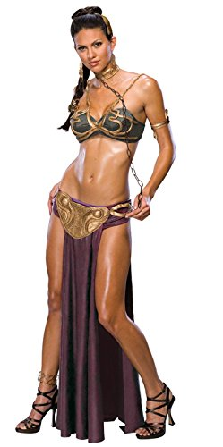 [Women's Secret Wishes  Princess Leia Slave Costume, Brown, M (6/8)] (Womens M&m Halloween Costume)