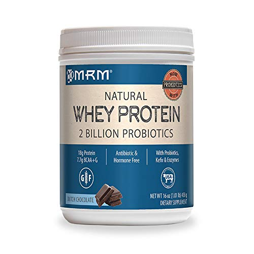 MRM - All Natural Whey Protein Powder, With Essential Amino Acids, BCAAs & Glutamine for Maximum Muscle Growth & Development (Dutch Chocolate), 32 Ounce (Packaging May Vary)