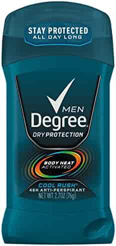 Degree Men Dry Protection 48 Hour Antiperspirant, Cool Rush 2.7 oz (Pack of 6)