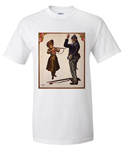 Annie Oakley Vintage Poster USA c. 1905 (White T-Shirt - Oakleys Painting