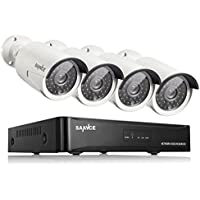 SANNCE 4 Channel 960p HDMI NVR Simplified PoE 4x1.3MP 2000TVL HD Outdoor Indoor Security Camera System No Hard Drive, Email Alert, Motion Detect, Mobile Phone Control