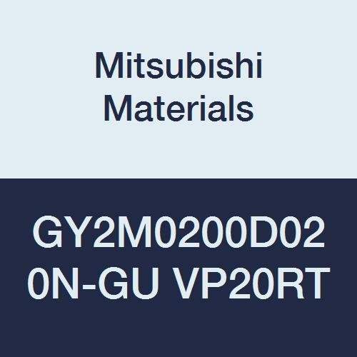 Pack of 10 D Seat Mitsubishi Materials GY2M0200D020N-GU VP20RT Series GY Carbide Grooving Insert for Grooving//Cutting Off and Gummy Steel 2 Teeth 0.079 Grooving Width 0.008 Corner Radius