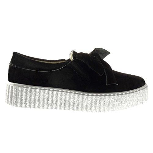 Plataforma moda Zapatillas deporte Arcos para Plataforma on Angkorly de 3 de Negro Slip mujer cuña Zapatos cm de de 5 C7q5Bwxx