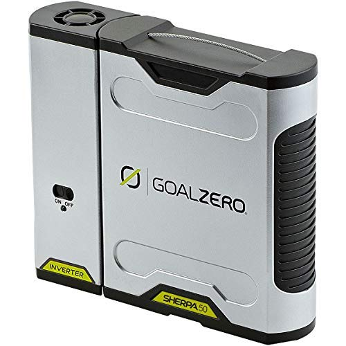 Goal Zero Sherpa 50 Power Pack With 110V AC Inverter, 5200mAh/58Wh