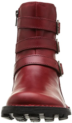 Faible Hiver Bottines Eclair Red Talons Fermeture London Myso Femmes Rouge Fly q8t400