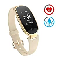 Fitness Tracker for Women Activity Watch and Heart Rate Monitor IP67 Waterproof Smart Bracelet with Sleep Monitor Pedometer Calorie Compatible with Android and iOSSmartphone