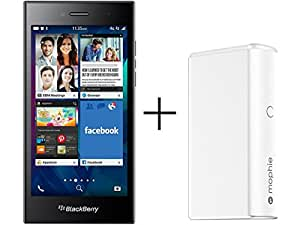 BlackBerry Leap STR100-2 16GB Unlocked GSM 4G LTE Phone - Grey w/ Mophie Powerstation Boost (White)