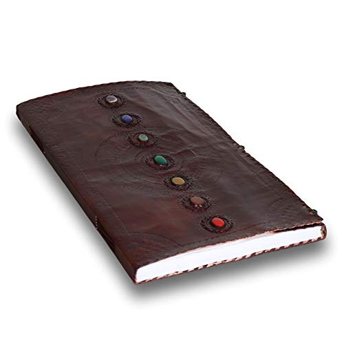 Seven Stone Leather Journal Handmade Notebook Unlined Blank 240 Pages 13 1/2 X 22 inches by  (Image #2)