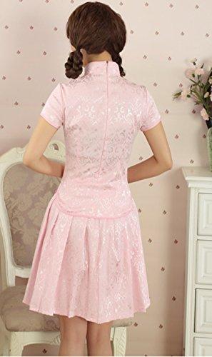 YueLian Damen Frauen Sommer Kragen Qipao Stil Zweiteilig kleider mit ...