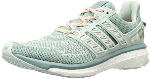 adidas Performance Women's Energy Boost 3 W Running Shoe, Vapor Green F16/Chalk 2/Vapor Steel F16, 6.5 M US - 3 Plus Womens Running Shoes