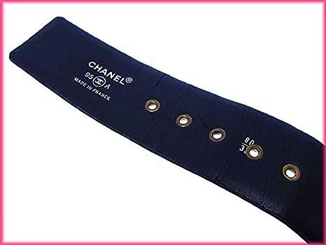 6e01462f7ea0 Amazon | (シャネル) Chanel ベルト ♯80 32 ブラック×ゴールド ヴィンテージ リボン付き レディース 中古 Y2493 |  ベルト 通販