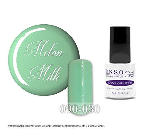O.S.S.O Gel Polish Color One-Step Soak-off LED UV Cured No Base or Top Coat Need (Melon Milk) (5ml)