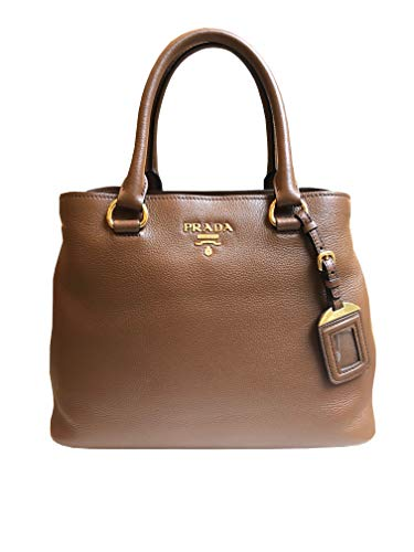 Prada Women's Brown Vitello Phenix Leather Handbag 1BA058