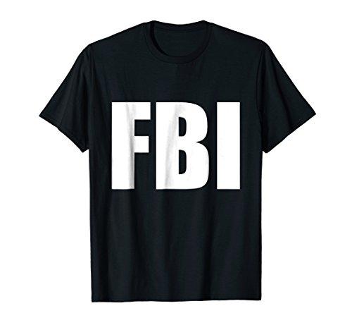 FBI Replica Agent Inspector Funny Halloween Costume T-Shirt ()