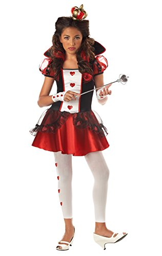 [California Costumes Girls Tween Queen of Hearts Costume, X-Large] (Teen Girl Costumes)
