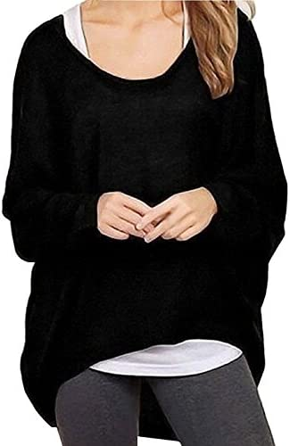 RJXDLT Women's Casual Oversized Baggy Off-Shoulder Tops Sexy Long Sleeve Pullover Blouse