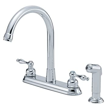 Danze D422055 Sheridan Two Handle Kitchen Faucet With Side Spray