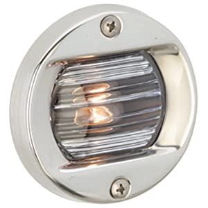 New Stainless Steel Bi-color Light attwood Marine 66318-7 Combination Deck mou