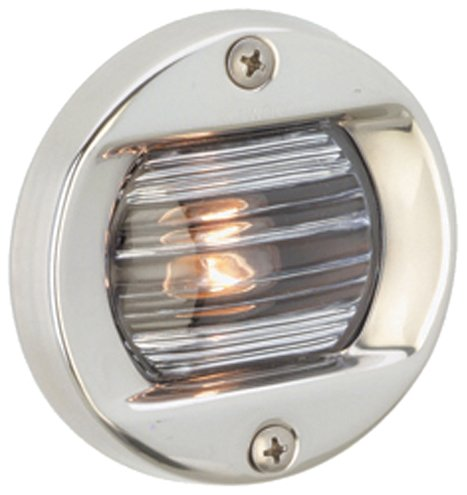 Attwood Corporation 6356D7 12V Round Transom Light Flush (Led Round Transom Light)