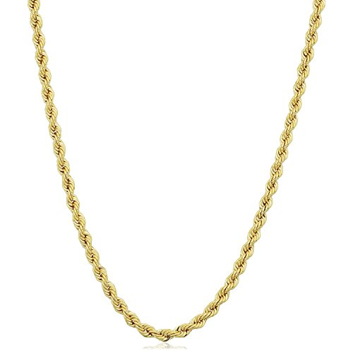 14K Yellow Gold Filled Solid Rope Chain Necklace, 2.1mm, 20