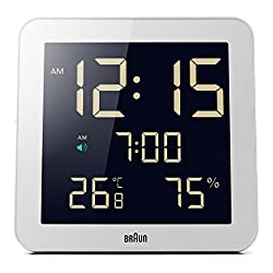 Braun BNC014WH Temperature/Humidity Quartz Wall Clock