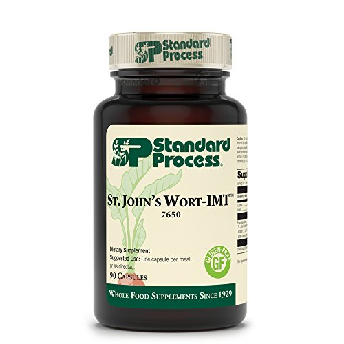 Standard Process - St John's Wort-IMT - Promotes Mental Health and Supports Emotional Balance, Provides Vitamin A (Beta Carotene) and Iodine, Gluten Free - 90 Capsules by Standard Process (Image #1)