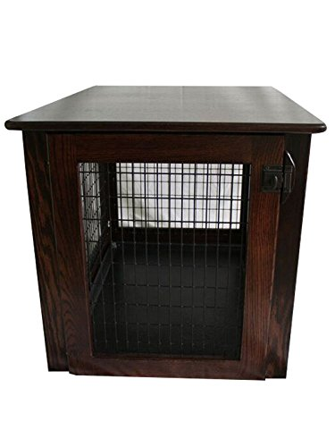 Pinnacle Wooden Dog Crate Furniture End Table Bed in Different Stain Colors