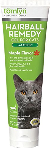 Tomlyn Hairball Remedy Gel for Cats, Maple Flavored,  2.5 oz