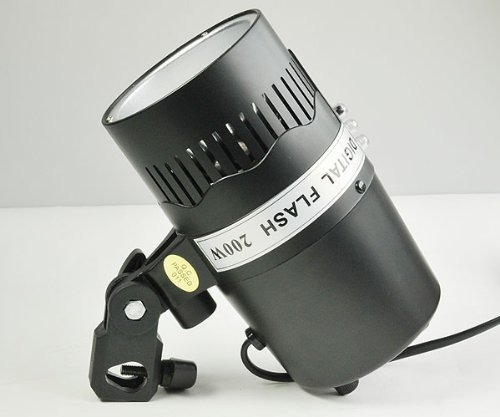200 Watt Photography Studio Monolight, Studio Strobe Light with 75 W Model Lamp SMD200W by ephotoinc