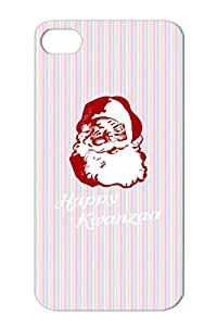 Happy Kwanzaa Christmas Santa Claus Holiday Holidays Diversity Holidays Occasions Kwanza Funny Joke White For Iphone 4 TPU Cover Case