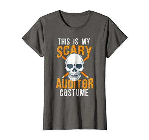 Womens Funny Scary Auditor costume Tee shirt for Halloween 2017 XL Asphalt