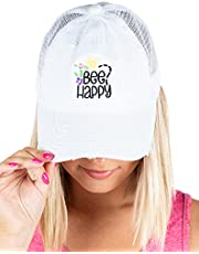 Funky Junque Criss Cross Hat - Gorra de béisbol para mujer, diseño de cola de caballo