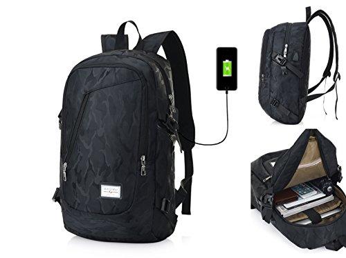 Travel Outdoor Computer Backpack Laptop bag 18''(black) - 2