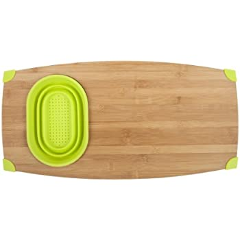 Core Bamboo 1129 Corner-Grip Over-the-Sink Cutting Board, Lime