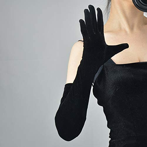 21/'/' Cat Woman Gloves Costume for Women Black Wet Look Shiny Vinyl Cosplay Gloves for Halloween Party Favors SUFEINI Long Flapper Evening Opera Satin Gloves for Women Elbow Length Black-Satin