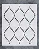painting designs on walls GSS Designs Wall Stencil - Large Trellis Stencil (20x24 Inch) for Painting on Wall Furniture Floor Fabric Stencils -Reusable Template for Wall Decals & Wallpaper & Wall Decor (SL-043)