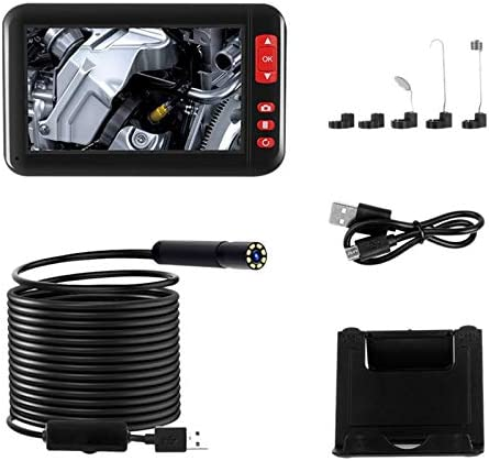 5M YeBetter 4.3 in Endoscopy Camera 1080P HD Color Screen 8Mm Endoscope Camera IP67 Waterproof 8 Adjustable LED Semi-Rigid Snake Cable