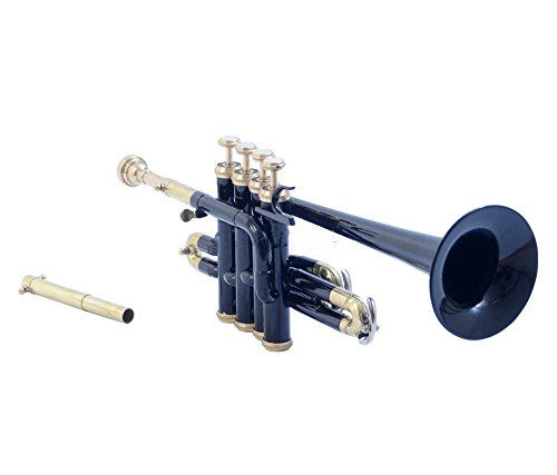 GIFT PICCOLO TRUMPET Bb PITCH BLACK COLORED WITH FREE CASE by SAI MUSICAL