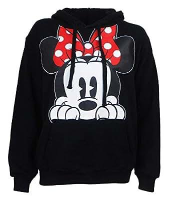 Amazon.com: Disney Adults Minnie Mouse Peeking Fleece ...