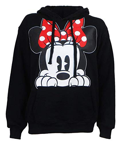 Disney Adults Minnie Mouse Peeking Fleece Hoodie