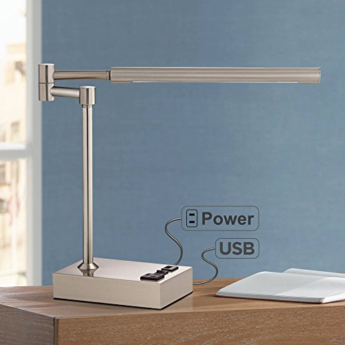 Slimline Modern Swing Arm Desk Table Lamp 13