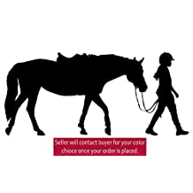 Horse decal, girls bedroom decor, teen room sticker, dorm, western wall decor, pony, rider,nursery (16 X 36)