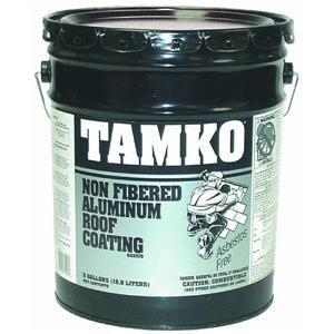 Tamko Non Fibered Aluminum Roof Coating   5 Gallon