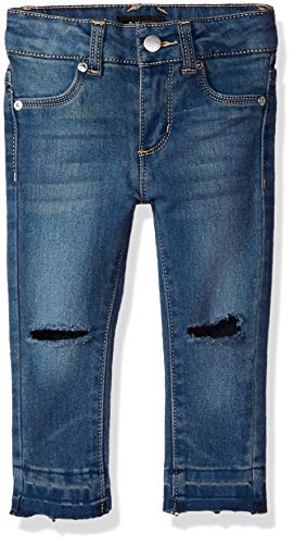 DKNY Girls' Big' Knee Slit Ankle Jegging, indy Blue, 10