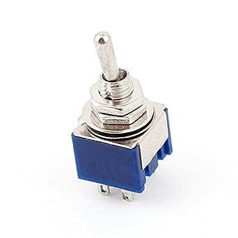 Panel Mount AC 125V 6A DPDT ON / ON 6 pinos de bloqueio Interruptor de Báscula