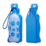 Anpet Travel Water Bottle 625ML /22oz Water Dispenser Portable Mug Dogs (22oz Blue)