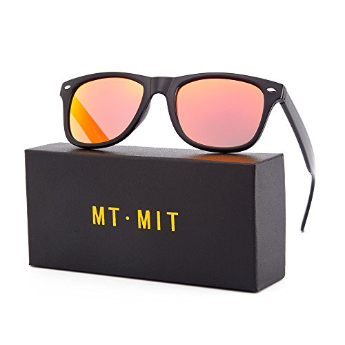 MT MIT Classic Retro Wayfarer Style Square Horn Rimmed Mirrored Lens Polarized - Mm 140 Sunglasses