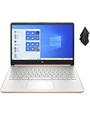 $369 » 2021 Newest HP 14-inch HD Non-Touch Laptop, Intel 2-Core N4020 up to 2.8 GHz, 4 GB RAM, 64 GB eMMC, WiFi, Webcam, Bluetooth, Win 10 S with Office 365 for 1 Year, Rose Gold+ Oydisen Cloth