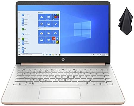 2021 Newest HP Stream 14-inch HD Non-Touch Laptop, Intel 2-Core N4020 as much as 2.8 GHz, 4 GB RAM, 64 GB eMMC, WiFi, Webcam, Bluetooth, Win 10 S with Office 365 for 1 Year, Rose Gold+ Oydisen Cloth